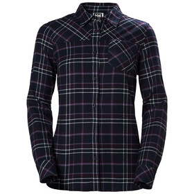 Helly Hansen Classic Check Langarm Shirt Damen nightshade plaid